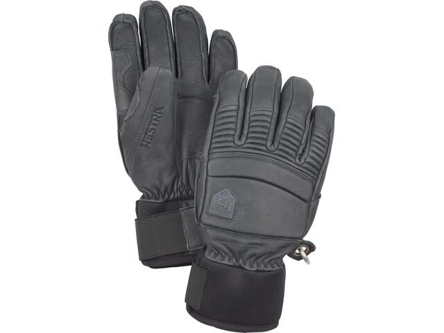 Hestra Leather Fall Line 5-Finger Handschuhe grey